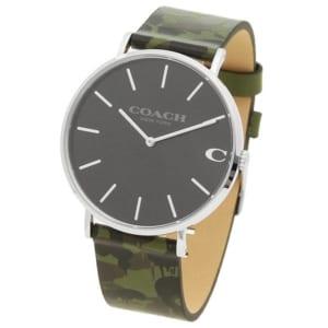 コーチ 時計 COACH 14602154 CHARLES チャールズ 41MM メンズ腕時計 ウォッチ カモフラージュグリーンカーキー/グレー by ブランドショップAXES(日本流通自主管理協会会員)
