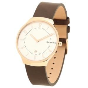 スカーゲン 時計 SKAGEN SKW6458 GRENEN グレーネン メンズ腕時計 ウォッチ ブラウン/ローズゴールド/ホワイト by ブランドショップAXES(日本流通自主管理協会会員)