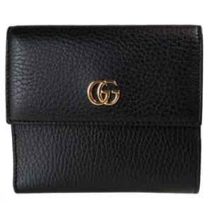 グッチ メタルロゴ付き二つ折り財布