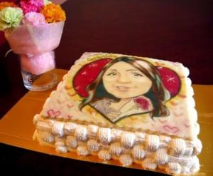 プロの似顔絵師によるイラストケーキ スクエア