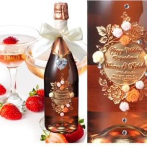 【名入れ プレゼント】【 酒 】【 ワイン 】 ロゼ・スパークリング・シャンパン WISH ROSE スペシャルパッケージセット by エンジェリック