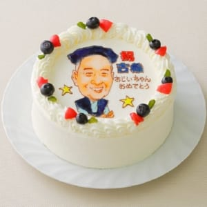 似顔絵ケーキ (5号 15cm) フォトスタンド付 人物1体