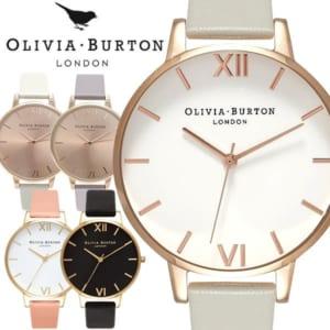 OLIVIA BURTON オリビアバートン BIG DIAL 時計 クオーツ レディース シンプル アナログ3針 ステンレス ソフトレザー SNS 人気 海外 ブランド OB-02 by CAMERON