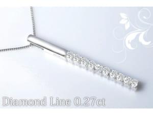 ダイヤモンド ラインネックレス