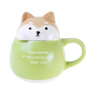【名入れ】 すっぽりマグ しば 柴犬 犬マグ by スマートギフト