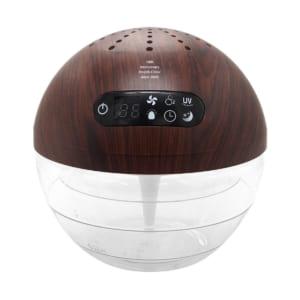 【名入れ】エアーフレッシュナー UV [ホワイト・ブラウン] 水の力で空気を洗浄 UV搭載 除菌消臭効果 by スマートギフト