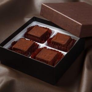 和ショコラキューブ 4個★和素材の寒天を使用したとろける3cm角チョコレート! by 新杵堂