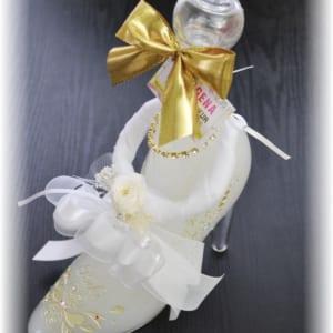 『送料無料』誕生日サプライズ・名入れ・プリザーブドフラワー付きリキュールボトル・シンデレラシュー名入れリキュール【シンデレラのガラスの靴リキュール350ml】誕生日プレゼント・結婚祝いプレゼント・サプライズギフト・プロポーズギフトにオススメ♪ by 名入れギフトのアートガラス