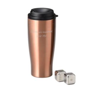 【蓋つきだから便利!名入れコーヒータンブラー】 フローズンキューブ ポータブルタンブラー セット カフェやコンビニコーヒー用のマイタンブラーのプレゼント by スマートギフト