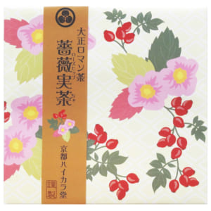 【 大正ロマン茶25選 】 ★ 薔薇実茶 (ローズヒップ茶)(2g×10パック)★白地に赤いローズヒップの花柄が可愛い健康茶です★1パックで最大500mlまで頂けます。 by 元気スマイルSHOP