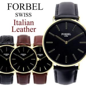フォーベル メンズ 腕時計 イタリアンレザー
