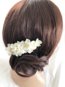 紫陽花のヘアコーム髪飾り