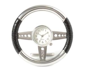 ミニチュア クロック 置時計 ハンドル型 おしゃれ 小さい アナログ 卓上 インテリア デザイン かわいい 雑貨 C3243-BK ギフト by CAMERON