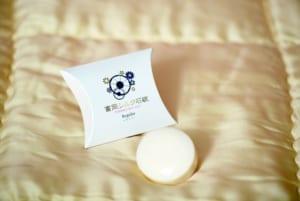 富岡産シルクをふんだんに配合した固形石鹸
