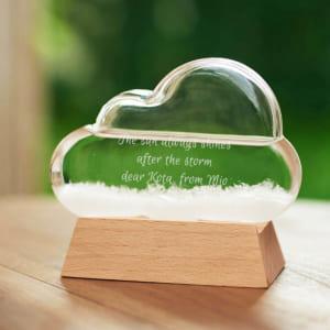 【名入れ】ストームグラス クラウド 見ていて面白い贈り物 眺めて楽しむオブジェ by スマートギフト
