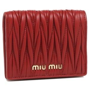 ミュウミュウ 財布 MIU MIU 5MV204 N88 F068Z MATELASSE マテラッセ レディース 二つ折り財布 FUOCO 赤 by ブランドショップAXES(日本流通自主管理協会会員)