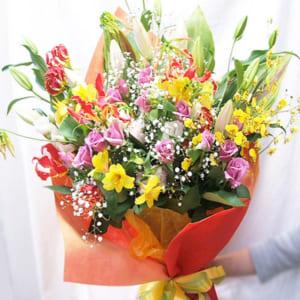 花 フラワーギフト 誕生日プレゼント 四季折々のお花★花束 by 花束・バラ・花卸販売サンモクスイ