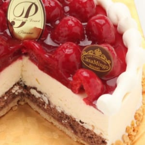 特注ハート型 シュス木苺レアチーズケーキ