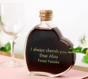 【名入れ】スウィートワイン ハート型ワイン バレンタインに合うお酒 誕生日、記念日など特別にしたいプレゼントに(スイートワイン) by スマートギフト