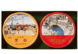 東京名所缶 2缶入 【梅ぼ志飴】【黒飴】 by 榮太樓オンラインギフト