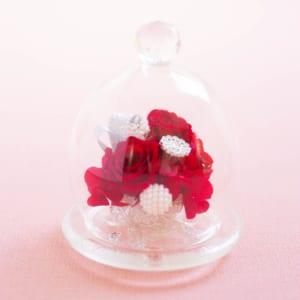 プリザーブドフラワー ガラスドーム 『chouette diamont シュエット・ディアマン』 誕生日 結婚祝い 結婚記念日 母の日 ブリザードフラワー プレゼント ギフト 贈り物 送料無料 by プリザーブドフラワー ギフト Ruplan
