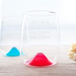 【名入れペアグラス】富士山グラス