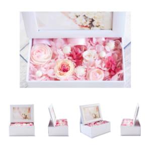 プリザーブドフラワー 写真立て photo flower box フォトフラワーボックス