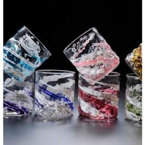 名入れグラス 沖縄琉球ガラス 残波ロックグラス