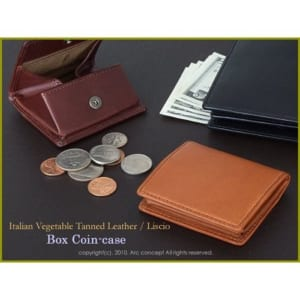 LC革 ボックスコインケース