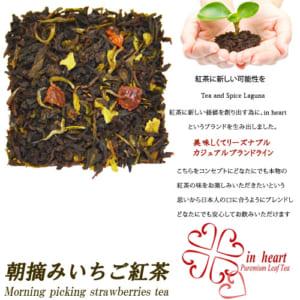 【お試しにぴったり】『朝摘みいちご紅茶』ティーバッグ5個入 便利なジップ付き袋入り by Tea and Spice Lagun