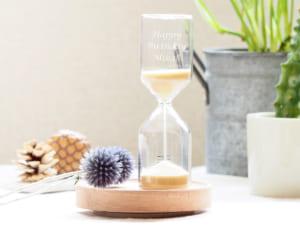【名入れ】 サンドグラス ベージュ インテリア 砂時計 by スマートギフト
