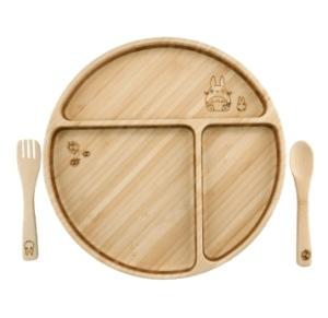 【名入れ/竹食器】となりのトトロプレートセット