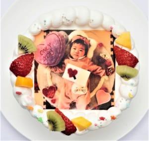 写真ケーキ-豆乳クリームベース-【15cm 5号】3人~5人用 by アニバーサリーケーキ専門店 菓の香(かのか)