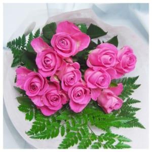 国産大輪ピンクのバラ