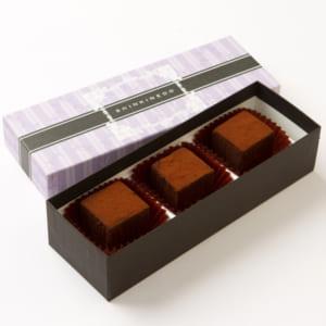 和ショコラキューブ 3個★和素材の寒天を使用したとろける3cm角チョコレート! by 新杵堂