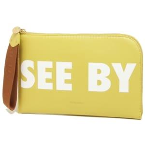 シーバイクロエ バッグ SEE BY CHLOE CHS18AP822 443 35W ヨリス JORIS IPAD CASE iPad ケース タブレットケース レディース クラッチバッグ 無地 GREEN SHEEN 黄色 by ブランドショップAXES(日本流通自主管理協会会員)