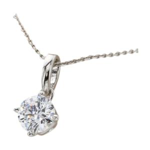 ◆送料無料【スワロフスキー ジルコニア】H&C 1.25ct 一粒ネックレス by JewelryCastle