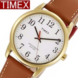 TIMEX タイメックス 腕時計 イージーリーダー 40周年記念モデル メンズ レディース ユニセックス TW2R40100 ブランド 人気 革 レザー ゴールド ブラウン ギフト by CAMERON