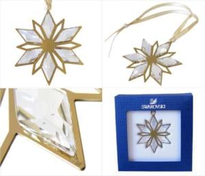 スワロフスキー SWAROVSKI オーナメント クリスタル クリスマス スター ゴールド 置物 5064267 by Alevel(エイレベル)