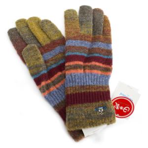 ヴィヴィアンウエストウッドマン 手袋 ミックス(黄土色、赤系)