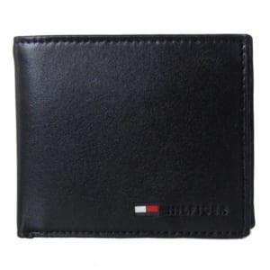 「トミーヒルフィガー(TOMMY HILFIGER)」 二つ折り財布 メンズ ブラック