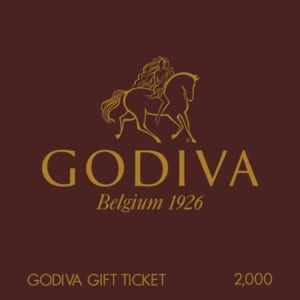 「ゴディバ(GODIVA)」 ギフト券(2000円)
