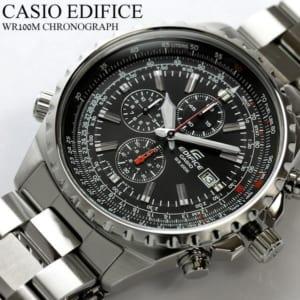 カシオ 「エディフィス」腕時計 クロノグラフ クロノ 100m防水