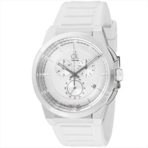 カルバンクライン メンズ ダート 腕時計 ウォッチ ホワイト×シルバー