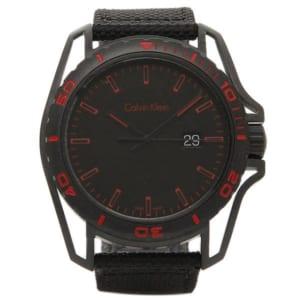 カルバンクライン 時計 メンズ アース 腕時計 ウォッチ ブラック/レッド