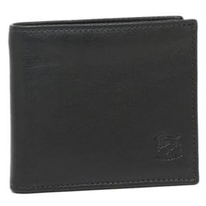 「イルビゾンテ(IL BISONTE)」 メンズ 二つ折り財布 BLACK