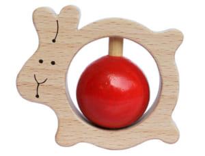 [日本製安心おもちゃ] かみかみうさぎ [名入れ][はがため 歯がため 赤ちゃん おもちゃ 木のおもちゃ 日本製 出産祝いにお薦め がらがら カタカタ 男の子&女の子 3ヶ月 4ヶ月 5ヶ月 6ヶ月 7ヶ月 8ヶ月 9ヶ月 10ヶ月 1歳 誕生日 誕生祝い ベビー 木育 ] by 木のおもちゃ製作所・銀河工房