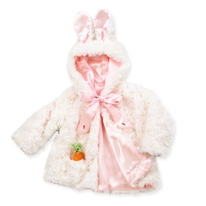 Bunnies By The Bay【バニーズバイザベイ】雪うさぎのコート♪ギフトボックス付きで出産祝いにもおすすめ!【ガラガラ付】【ラトル】【出産祝い】【ギフト】【ベビー服】【女の子】【初節句】 by LINDA BONITA