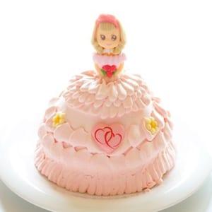 立体お姫様ケーキ5号15cm