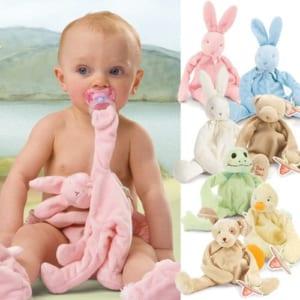 Bunnies By The Bay(バニーズバイザベイ)おしゃぶりがつけられる☆くたくた抱っこぬいぐるみ!【新生児】【出産祝い】【がらがら】【ガラガラ】【ラトル】【おねんね】【安眠】【卒乳】 by LINDA BONITA